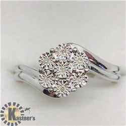 SILVER 7 DIAMOND RING