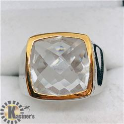 BRASS CRYSTAL MEN'S RING