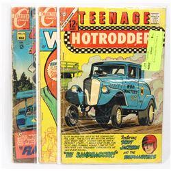 3 HOT ROD CAR RACING COMICS