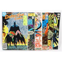 6 VINTAGE BATMAN COMICS