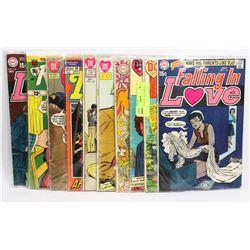 BUNDLE OF 10 VINTAGE ROMANCE COMICS