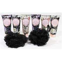 BAG OF SCENTED BODY LOTION AND MORE