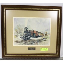 TRAIN FRAMED PICTURE