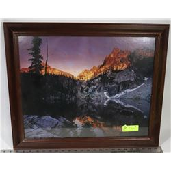 MOUNTAIN -SMALL PAINTING, FRAMED
