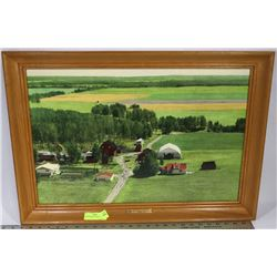 FARM FRAMED PICTURE