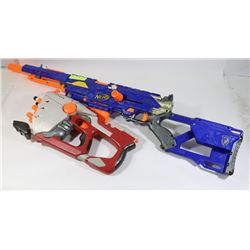 LOT OF ASSORTED NERF GUNS.