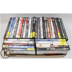 FLAT OF 35 PLUS DVD'S