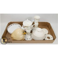 FLAT OF HOME DECOR INCLUDING ROYAL DOULTON