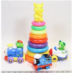 FLAT OF KIDS TOYS INCLUDING LEAP FROG TALKING