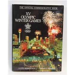 OFFICIAL XV OLYMPIC WINTER GAMES HARD COVER BOOK