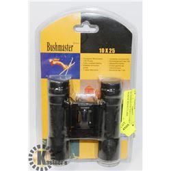 BUSHMASTER 10X25 COMPACT 10X POWER BINOCULARS