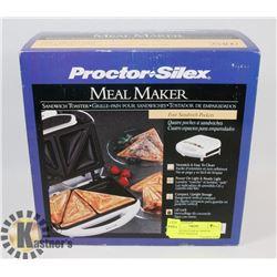 PROCTOR SILEX MEAL MAKER SANDWICH TOASTER.