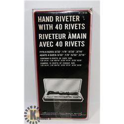 HAND RIVETER KIT.