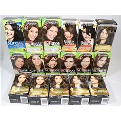 FLAT WITH 17 BOXES OF HAIR COLOUR