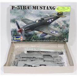 REVELL 1:48 P-51B/C MUSTANG MODEL, SEALED BAGS