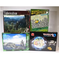 SEALED SET OF 4 PUZZLES 1000 PC EACH