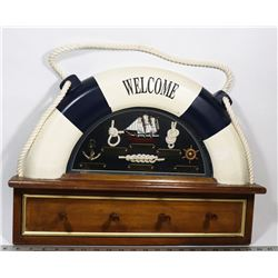 VINTAGE WELCOME DISPLAY WITH