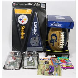 SEALED FOOTBALL ITEMS NFL 32 PC