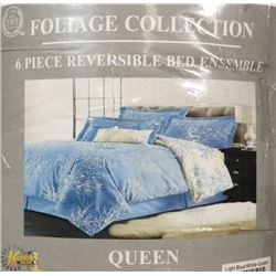 FOLIAGE COLLECTION 6-PC REVERSIBLE BED ENSEMBLE