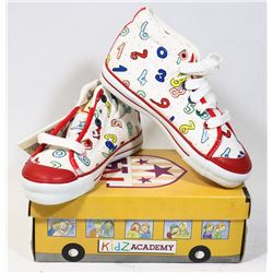 KIDS ACADEMY SCHOOL BUS KIDS SHOES WHITE/RED SZ 12