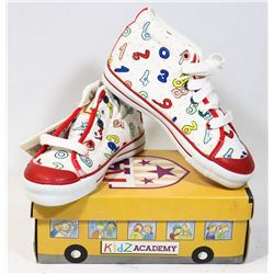 KIDS ACADEMY SCHOOL BUS  SHOES WHITE/RED SZ 11