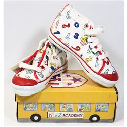 KIDS ACADEMY SCHOOL BUS  SHOES WHITE/RED SZ 7.5