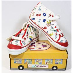 KIDS ACADEMY SCHOOL BUS  SHOES WHITE/RED SZ 8.5