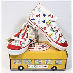 KIDS ACADEMY SCHOOL BUS  SHOES WHITE/RED SZ 11.5