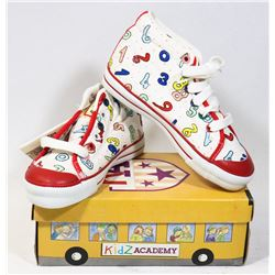 KIDS ACADEMY SCHOOL BUS  SHOES WHITE/RED SZ 7