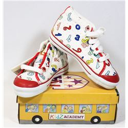 KIDS ACADEMY SCHOOL BUS  SHOES WHITE/RED SZ 10