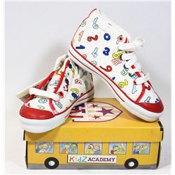 KIDS ACADEMY SCHOOL BUS  SHOES WHITE/RED SZ 12