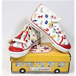 KIDS ACADEMY SCHOOL BUS  SHOES WHITE/RED SZ 9.5