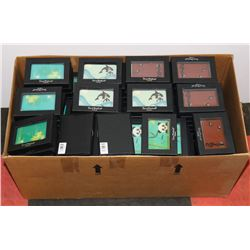 BOX OF ASSORTED BUSINESS CARD TRAVEL HOLDERS