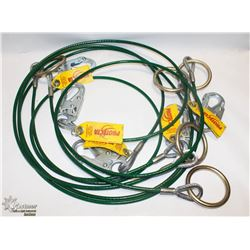 LOT OF FIVE 6FT PROTECTA CABLE TIE-OFF ADAPTORS