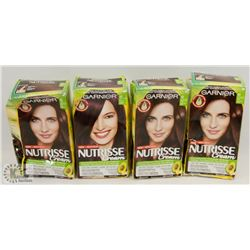 BAG OF ASSORTED GARNIER NUTRISSE HAIR COLOUR