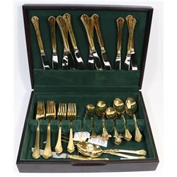SILVERWARE SET-GOLD PLATED
