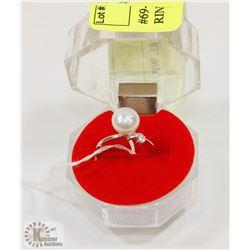 #69-FRESH WATER PEARL WHITE  RING