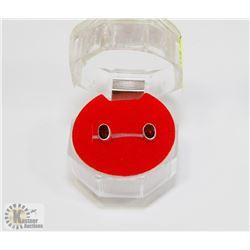 #189-NATURAL RED GARNET STUD EARRINGS