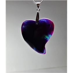 18)  FREE FORM PURPLE AND GREEN HEART