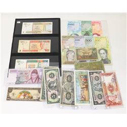 LOT OF ASSORTED WORLD CURRENCY NOTES