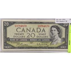 1954 CANADA $20 DOLLAR BILL