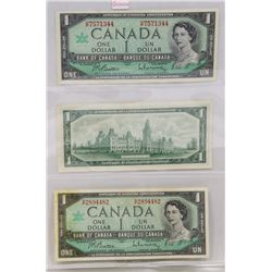 LOT OF 3 -1967 $1 BANK NOTES