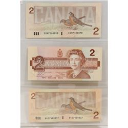 LOT OF 3 CANADA $2 BANK NOTES
