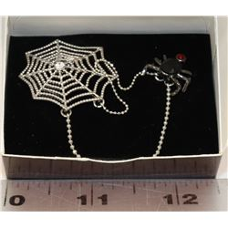 AVON SPIDER AND WEB BROOCH