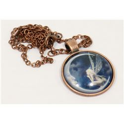 FAIRY IN A CRESCENT MOON PENDANT