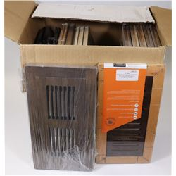 BOX OF 3 SIZES LAMINATE FLOOR REGISTERS - 5 - 3X10