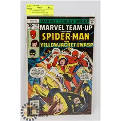 VINTAGE MARVEL TEAM UP-SPIDERMAN PLUS YELLOW