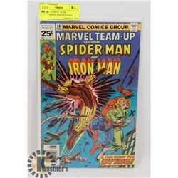 VINTAGE MARVEL TEAM UP-SPIDERMAN AND IRONMAN