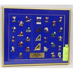 VINTAGE 1995 BRASS FRAMED TEAM