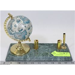 MARBLE PEN & BUSINESS CARD DESK SET WITH MINI